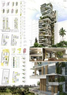 architecture - SKYCONDOS competition in Lima, Perú Honourable Mention out of 384 proposals Architecture Panel, Architecture Graphics, Green Architecture, Concept Architecture, Landscape Architecture, Architecture Design, Architecture Diagrams, Architecture Presentation Board, Presentation Layout