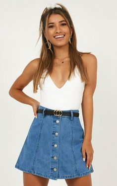 d5ca5eaaa There Will Be Time Denim Skirt In Mid Wash Dry Cleaning, Denim Skirt, Jean