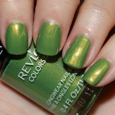 Revlon Colorstay Bonsai - bright green with gold shimmer, very nice for St Patrick's Day or Easter
