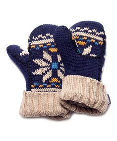This Navy Snowflake Potholder Mittens - Women is perfect! #zulilyfinds
