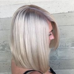 "We've got chills, and they're multiplying. ❄️ #matrixhair #matrixcolor || : @coryhoffmanhair  Her formula: ""Prelightened my client with Matrix Lightmaster, then did a base shade with ColorSync 8P and 10V(equal parts) and toned the ends with SPV."""