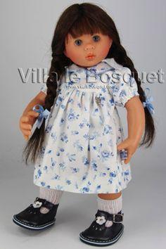 POUPEE ORIGINAL MÜLLER-WICHTEL JANINE - poupée de collection de Rosemarie Müller