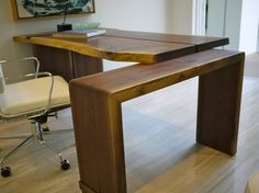 2012 New American Walnut Desk - Contemporary - Desks - Tampa - Robin Wade Furniture