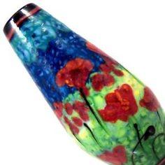 JC Herrell Poppy Fields Lampwork Glass Focal Bead | eBay