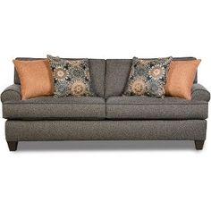 37A3BULLETASHSO  Bullet  87  Ash Gray Upholstered Sofa