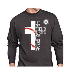 5fc694c6b Let the field be joyful ad all that is in it cross SVG DFX Christian svg,  Scripture svg, commercial license. Baseball svg, design