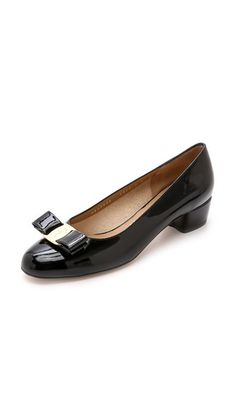 d29e70c81e4 Salvatore Ferragamo Vara Low Heel Pumps  550 in 2017 Rendered in glossy  patent leather