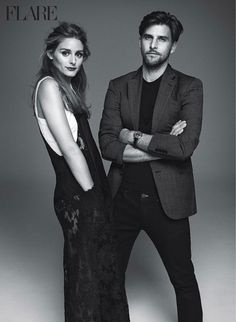 """Love and Lust"" Olivia Palermo and Johannes Huebl for FLARE Magazine February 2015"
