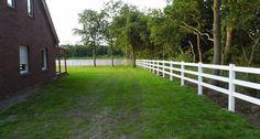 Projekt Rhede 16-06-2015  Erweiterung der Ranch Fence Zaunanlage mit 3 Querriegeln um 75lfm.  Total Material auf dieser Anlage 560lfm und diverse Toranlagen.