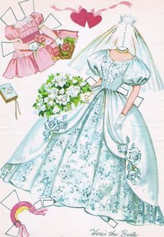 Paper Dolls~Heres The Bride - Bonnie Jones - Picasa Webalbum * 1500 free paper dolls at Arielle Gabriels International Paper Doll Society also her memoir childhood Joys and miracles The Goddess of Mercy also known as Kuan Yin & The Dept of Miracles *