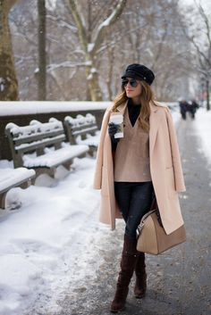 Michael Kors Coat, Theory Top (more suede pieces here), Topshop Turtleneck, NastyGal Pants, MICHAEL Michael Kors Boots (last seen here, here and here), Givenchy Bag c/o Luisaviaroma, ...