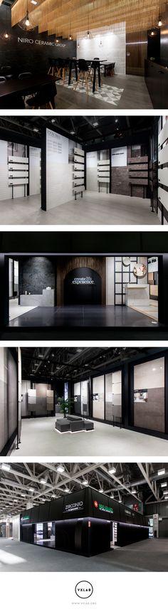 Niro Ceramic Group - Stand Cersaie 2017 #design #designdirection #ephemeral #architecture #interiordesign #graphicdesign #stand #interior #design #interiors #exhibition #branding #studio #ceramic #signage #space #cersaie