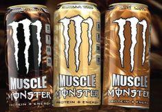 Monster Energy, Monster Protein, Bebidas Energéticas Monster, Monster Pictures, Protein Energy, Cloth Flowers, Thing 1, Fun Drinks, Beverages