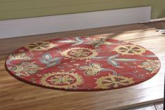 Blooming with rich color, this vibrant rug is made with cut-pile polypropylene fibers for both comfort and durability. Montgomery Ward, Vibrant, Rugs, Garden, Vintage, Color, Home Decor, Farmhouse Rugs, Garten
