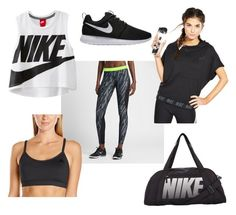 """""""Going to the gym"""" by fleurrouge ❤ liked on Polyvore featuring NIKE, adidas, Fit, nike, exercise, running and training"""