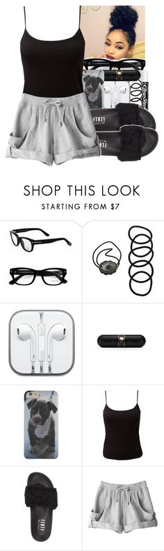 """12:37 a.m."" by yeauxbriana ❤ liked on Polyvore featuring Tom Ford, Chapstick, Wet Seal, CO, Beats by Dr. Dre, EAST, Puma and adidas"