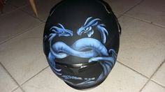 Airbrush helmet dragon heart