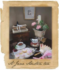 A Jane Austen tea party with easy treats and DIY