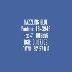 Color Trends for 2014 in Graphic Design - Dazzling Blue