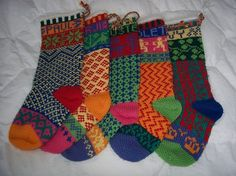 Ravelry: Cascade Christmas Stocking (W104) pattern by Marji LaFreniere.  A great free pattern from www.cascade.com