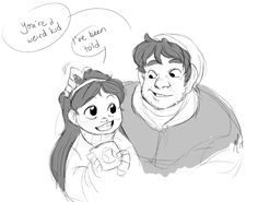 Another favorite AU: TIMESTUCK, where Mabel gets stuck in 70s or 80s and Stan picks her off the streets. It's like the best. I have read the same story 5 different ways and I just love it so much. Dine and dash pancakes, Mabel and Stan bonding in no...