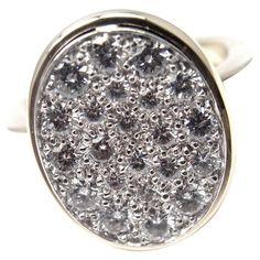 Cartier Dinh Van Diamond Platinum Gold Ring