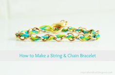 Chain and string bracelet