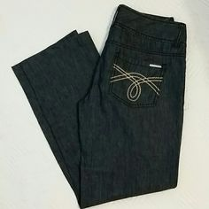 Michael Kors  cotton and linen Jeans Gorgeous cotton and linen  Michael Kors jeans. With two button and zipper closure. 30in long ,8in rise,  33in waist Michael Kors Jeans Boot Cut