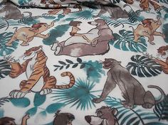 """Jungle Book 100% Polyester Fleece Fabric 60"""" Wide - Sold by the Yard"""