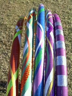 "I have some really cool custom hula  hoops for sale! Crazy designs all come with a protective covering to reduce those nics to your hoop and tape! Hoops are 160 psi with a 3/4"" inner diameter. Hoop dance offers you a really great workout, learn new moves and tricks and most of all - just have fun! http://www.hoopinginthepark.com/hoops/"