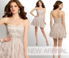 Camille La Vie strapless tiered short dresses