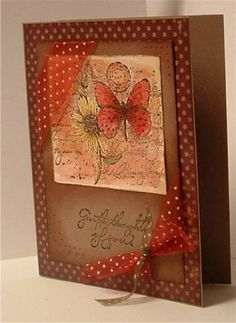 Polka Dot Collage using Stampin Up Garden Collage