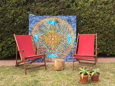 Buena Pieza Indian fabric frame, fresh and colorful (http://www.buenapieza.com/bastidores/)