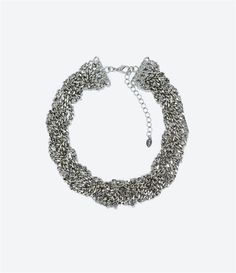 Image 1 of INTERWOVEN CHAIN NECKLACE from Zara