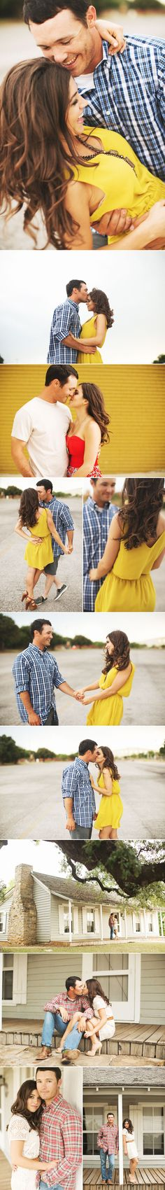 Love this engagement shoot!  save the date invite, dancing. 1st- her back 2nd-  both looking forward 3rd- him dipping her