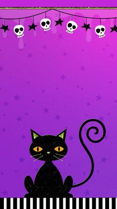 ♡ Cute Walls ♡ Witchy Wallpaper, Holiday Wallpaper, Halloween Wallpaper Iphone, Fall Wallpaper, Halloween Backgrounds, Wallpaper Backgrounds, Purple Halloween, Halloween Items, Halloween
