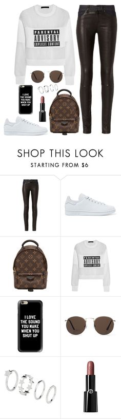 """""""Sans titre #586"""" by charliesclothes ❤ liked on Polyvore featuring rag & bone, adidas Originals, Louis Vuitton, Alexander Wang, Casetify, MANGO, H&M and Giorgio Armani"""