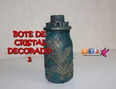 Bote de cristal decorado 2 - Decorated glass pot 2