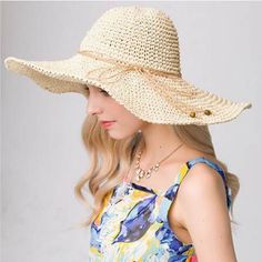 Summer wide brim straw hat UV womens package sun hats for travel