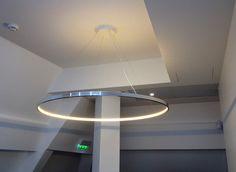 LED direct-indirect light pendant lamp OMEGA 120 by Le Deun Luminaires