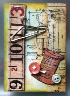 Original Artist Trading Card SewA Needle by tracyelliottdesigns, $9.50