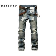 37.80$  Watch now - http://alivdd.shopchina.info/1/go.php?t=32720001336 - European American Style Men's Jeans Slim Denim Trousers Straight Famous Brand Mens Blue Gentleman Zipper Hole Jeans Pants Spring  #magazineonline