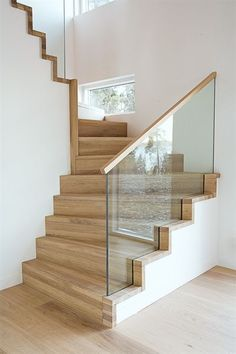 modern stairs design with glass