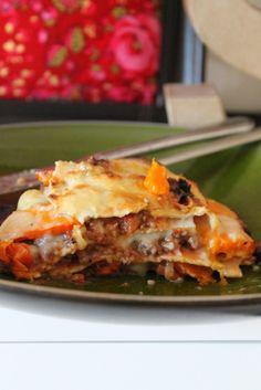 Würzige Kürbis-Rindfleisch-Lasagne