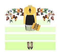Yellow fall by malinkova on Polyvore featuring moda, Gucci, Alexander Wang, Kate Spade, Nancy Gonzalez, fallfashion and falltrend
