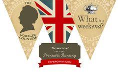 Printable British Downton Style Party BUNTING Union Jack Flag