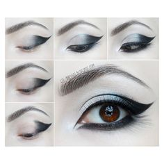 Goth Eye Makeup Tutorial Beauty Angel ❤ liked on Polyvore featuring beauty products, makeup and eye makeup