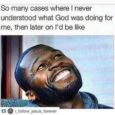 "Sometimes I just look up like, ""Haha I see you. You got a sense of humor. Christian Life, Christian Quotes, Christian Girls, Funny Relatable Memes, Funny Quotes, Funny Memes For Him, Truth Quotes, Real Quotes, Daily Quotes"