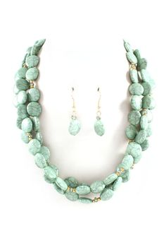 Gracie Necklace in Mint Turquoise