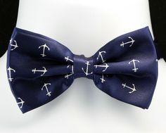 1bd5d9c255d8 Ocean Anchors Mens Bow Tie Adjustable Nautical Boat Ship Blue Sailor Necktie  New #TiesJustForYou #